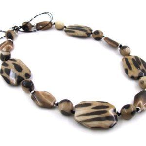 леопардовые бусы