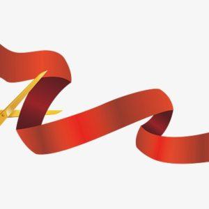 Прокат красной ленты для разрезания