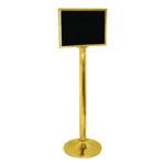 Прокат информационных табличек на золотом столбике